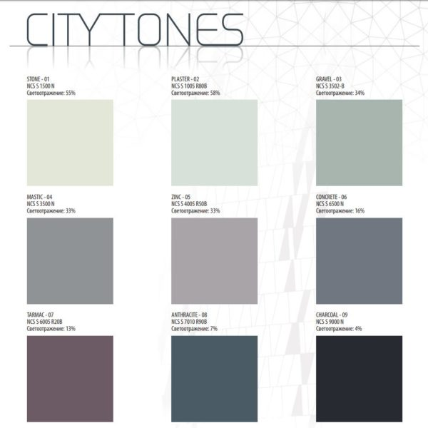 Rockfon Color-all city tones